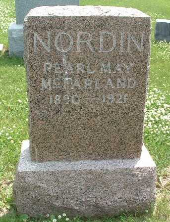 MCFARLAND NORDIN, PEARL MAY - Mills County, Iowa | PEARL MAY MCFARLAND NORDIN