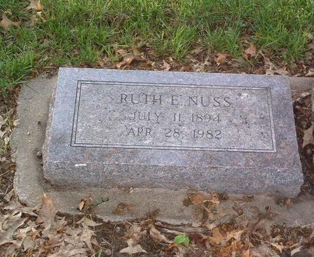 NUSS, RUTH E. - Mills County, Iowa   RUTH E. NUSS