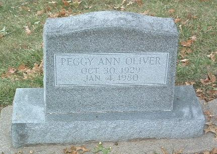 OLIVER, PEGGY ANN - Mills County, Iowa | PEGGY ANN OLIVER