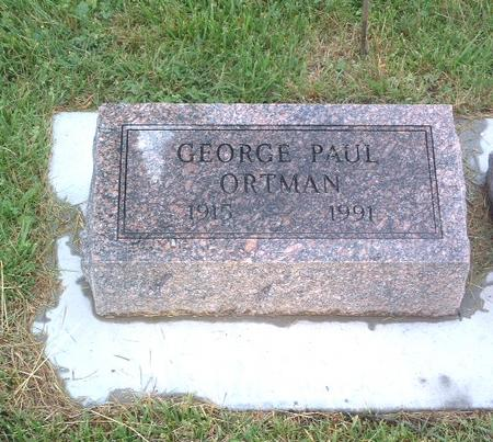 ORTMAN, GEORGE PAUL - Mills County, Iowa | GEORGE PAUL ORTMAN