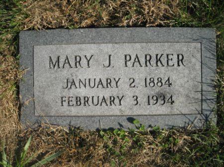 PARKER, MARY J. - Mills County, Iowa | MARY J. PARKER