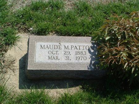 PATTON, MAUDE M. - Mills County, Iowa | MAUDE M. PATTON