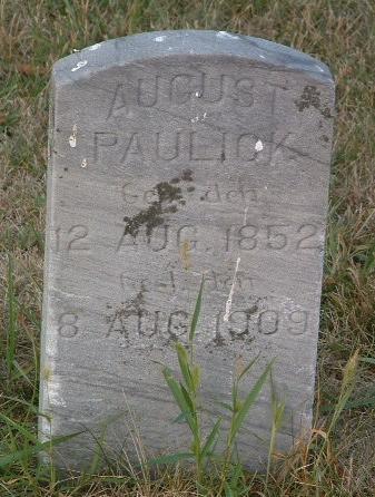 PAULICK, AUGUST - Mills County, Iowa   AUGUST PAULICK