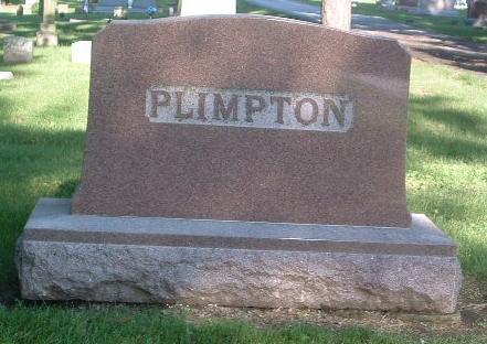 PLIMPTON, FAMILY HEADSTONE - Mills County, Iowa   FAMILY HEADSTONE PLIMPTON
