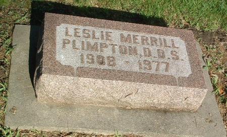 PLIMPTON, LESLIE MERRILL - Mills County, Iowa | LESLIE MERRILL PLIMPTON