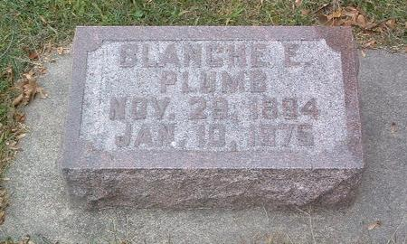PLUMB, BLANCHE E. - Mills County, Iowa | BLANCHE E. PLUMB
