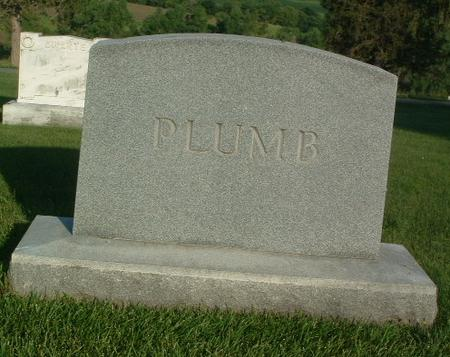 PLUMB, FAMILY HEADSTONE - Mills County, Iowa   FAMILY HEADSTONE PLUMB