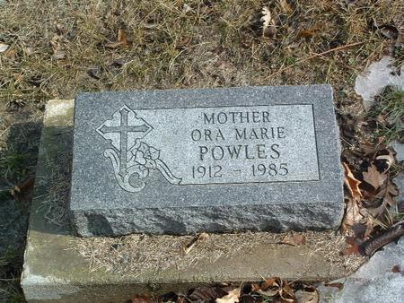 POWLES, ORA MARIE - Mills County, Iowa | ORA MARIE POWLES