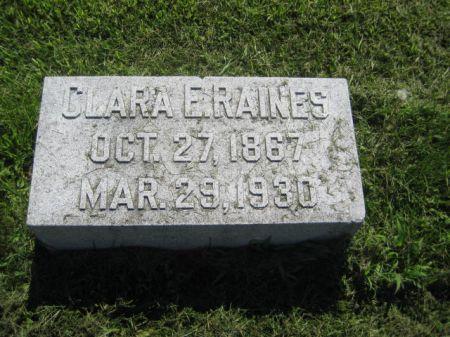 RAINES, CLARA E. - Mills County, Iowa   CLARA E. RAINES