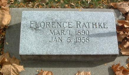 RATHKE, FLORENCE - Mills County, Iowa   FLORENCE RATHKE