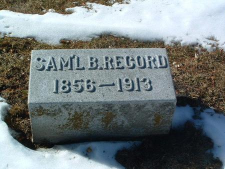 RECORD, SAM'L B. - Mills County, Iowa | SAM'L B. RECORD