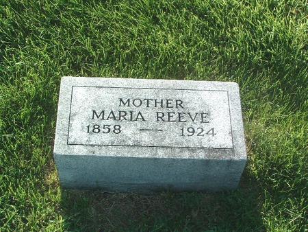 REEVE, MARIA - Mills County, Iowa | MARIA REEVE