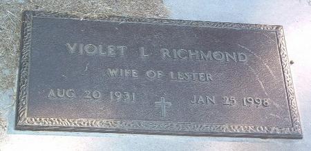 RICHMOND, VIOLET L. - Mills County, Iowa | VIOLET L. RICHMOND