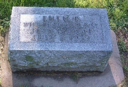 RIST, LULU E. - Mills County, Iowa | LULU E. RIST
