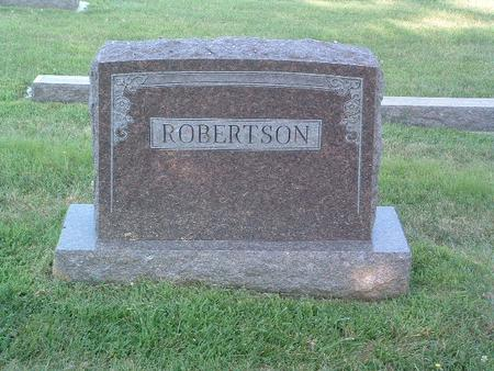 ROBERTSON, FAMILY HEADSTONE - Mills County, Iowa | FAMILY HEADSTONE ROBERTSON