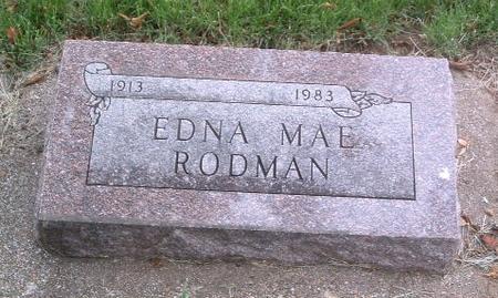 RODMAN, EDNA MAE - Mills County, Iowa   EDNA MAE RODMAN