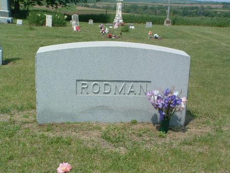 RODMAN, HEADSTONE - Mills County, Iowa   HEADSTONE RODMAN