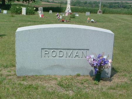 RODMAN, HEADSTONE - Mills County, Iowa | HEADSTONE RODMAN