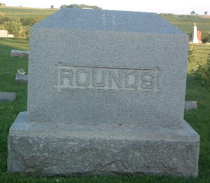 ROUNDS, FAMILY HEADSTONE - Mills County, Iowa   FAMILY HEADSTONE ROUNDS