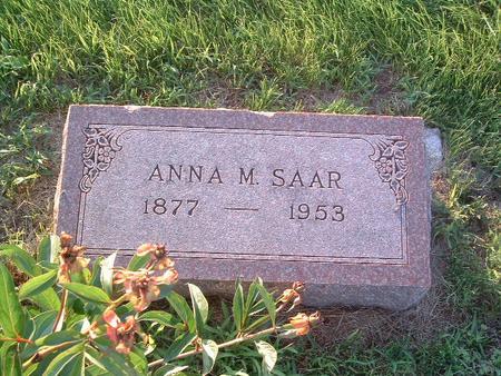 SAAR, ANNA M. - Mills County, Iowa | ANNA M. SAAR