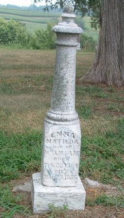SAAR, EMMA MATILDA - Mills County, Iowa   EMMA MATILDA SAAR