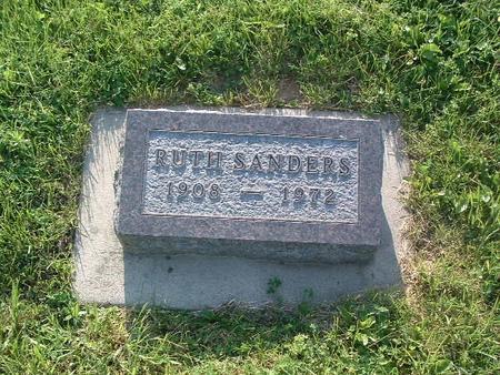 SANDERS, RUTH - Mills County, Iowa   RUTH SANDERS
