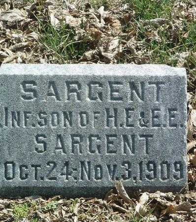 SARGENT, INFANT SON - Mills County, Iowa | INFANT SON SARGENT