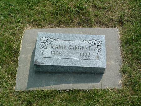 SARGENT, MARIE - Mills County, Iowa | MARIE SARGENT