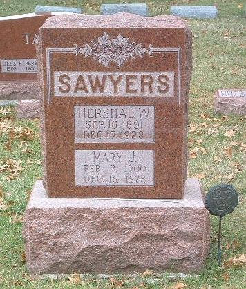 SAWYERS, HERSHAL W. - Mills County, Iowa | HERSHAL W. SAWYERS