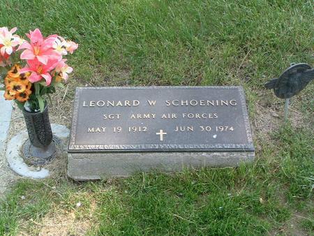 SCHOENING, LEONARD W. - Mills County, Iowa | LEONARD W. SCHOENING