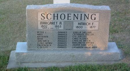 SCHOENING, HINRICH F. - Mills County, Iowa | HINRICH F. SCHOENING