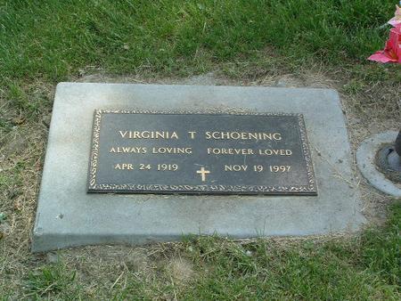 SCHOENING, VIRGINIA T. - Mills County, Iowa   VIRGINIA T. SCHOENING