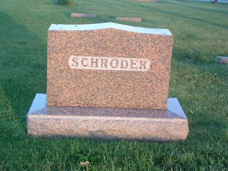 SCHRODER, FAMILY HEADSTONE - Mills County, Iowa   FAMILY HEADSTONE SCHRODER
