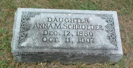 SCHROEDER, ANNA M. - Mills County, Iowa | ANNA M. SCHROEDER