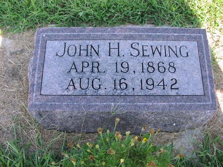 SEWING, JOHN H. - Mills County, Iowa | JOHN H. SEWING