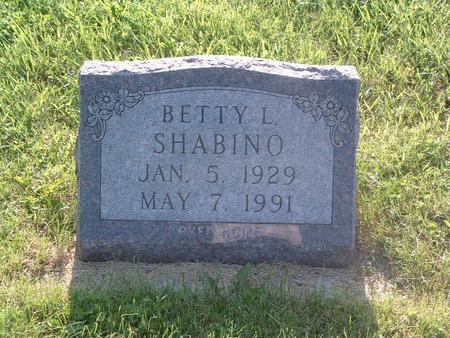 SHABINO, BETTY L. - Mills County, Iowa | BETTY L. SHABINO