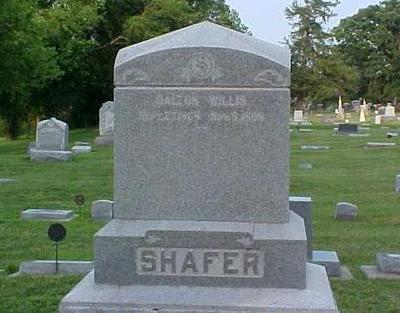 SHAFER, DALTON WILLIS - Mills County, Iowa   DALTON WILLIS SHAFER