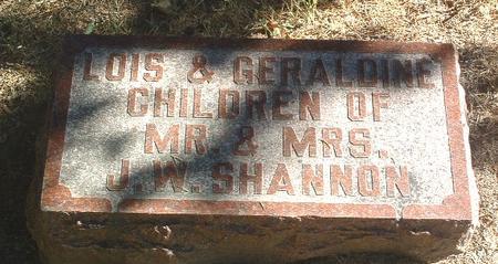 SHANNON, GERALDINE - Mills County, Iowa | GERALDINE SHANNON