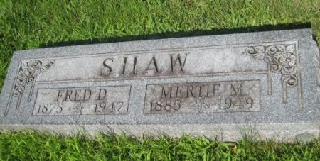SHAW, FRED D. - Mills County, Iowa   FRED D. SHAW