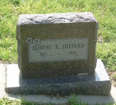 SHEPARD, DIONNE K. - Mills County, Iowa   DIONNE K. SHEPARD