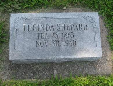 SHEPARD, LUCINDA - Mills County, Iowa   LUCINDA SHEPARD