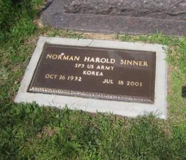 SINNER, NORMAN HAROLD - Mills County, Iowa | NORMAN HAROLD SINNER