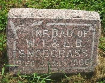 SNODGRASS, INFANT DAUGTHER - Mills County, Iowa   INFANT DAUGTHER SNODGRASS