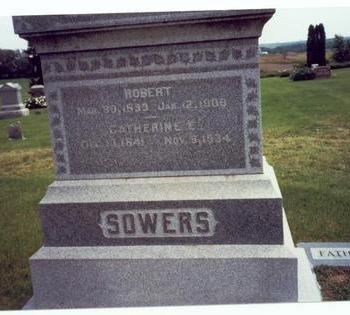ALLENSWORTH SOWERS, CATHERINE ELIZABETH - Mills County, Iowa | CATHERINE ELIZABETH ALLENSWORTH SOWERS