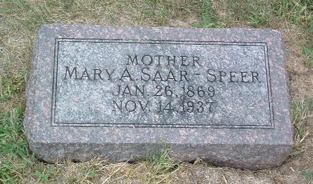 SAAR SPEER, MARY A. - Mills County, Iowa | MARY A. SAAR SPEER