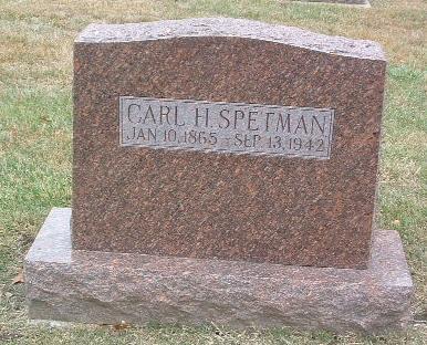 SPETMAN, CARL H. - Mills County, Iowa | CARL H. SPETMAN
