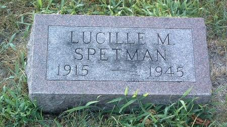 SPETMAN, LUCILLE M. - Mills County, Iowa | LUCILLE M. SPETMAN