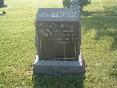 SPETMANN, WILHELM H. - Mills County, Iowa | WILHELM H. SPETMANN