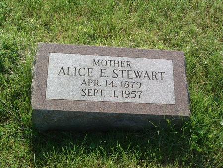 STEWART, ALICE E. - Mills County, Iowa   ALICE E. STEWART