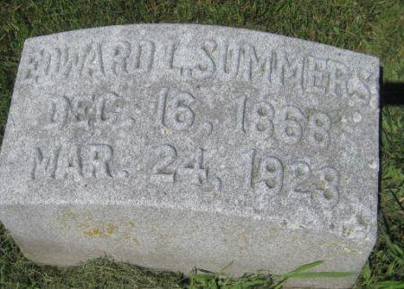 SUMMERS, EDWARD L. - Mills County, Iowa   EDWARD L. SUMMERS
